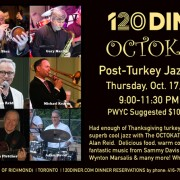 Post-Turkey Jazz Bash at 120 Diner with The OCTOKATS